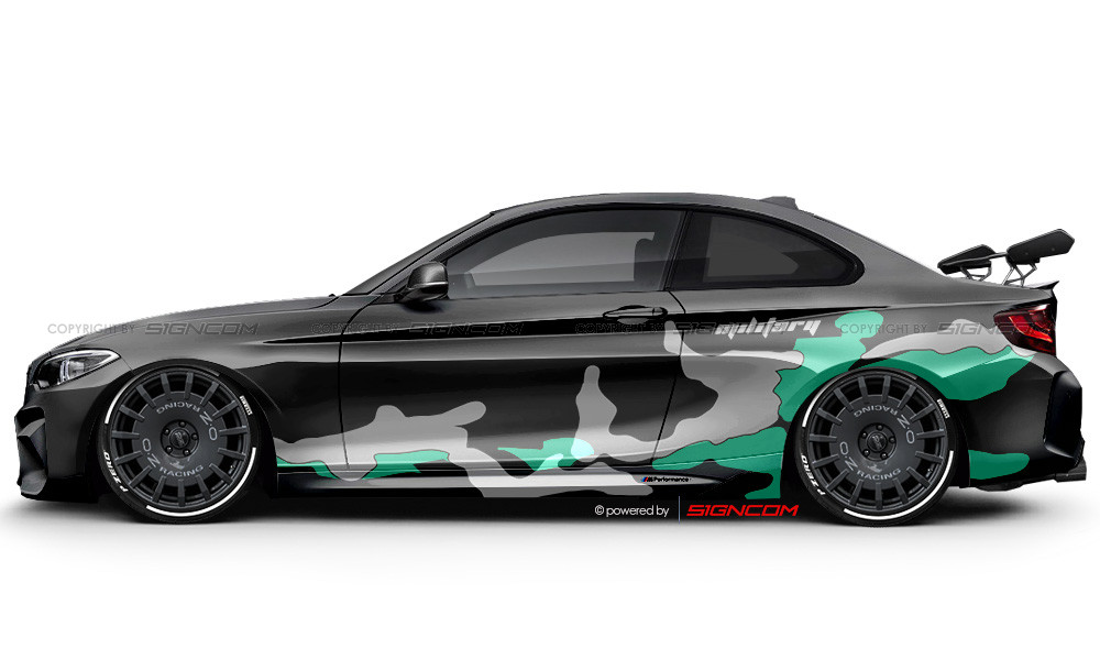 Camouflage Aufkleber Set V13 | Camouflage Car Graphic Kit V13