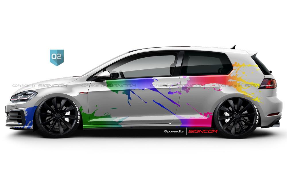 Colorite Aufkleber Set 02 | Colorite Car Graphic Kit 02