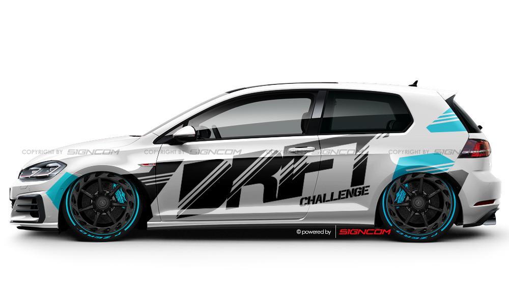 Drift Challenge Aufkleber Set 02 | Drift Challenge Car Graphic Kit 02