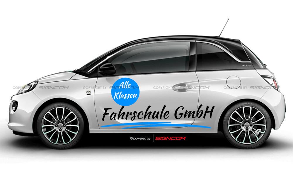 Fahrzeugbeschriftung Sportwagen online gestalten