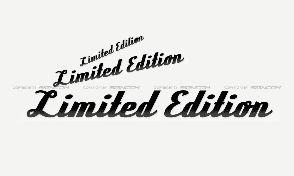 Limited Edition Schriftzug 03