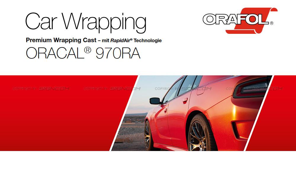 Oracal® 970 RA - Orafol® RapidAir®-Technologie, Blasenfreies Verkleben durch Mikrokanäle, Premium Wrapping Cast Vollverklebungsfolie