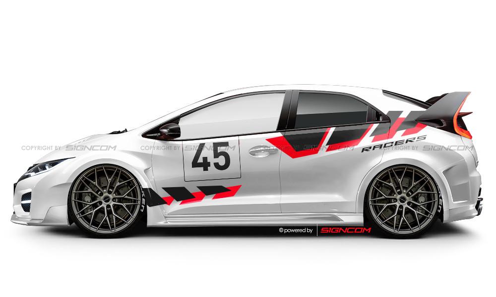 Race Art Aufkleber Set 09 Advance | Racing Art Car Graphic Kit 09 Advance