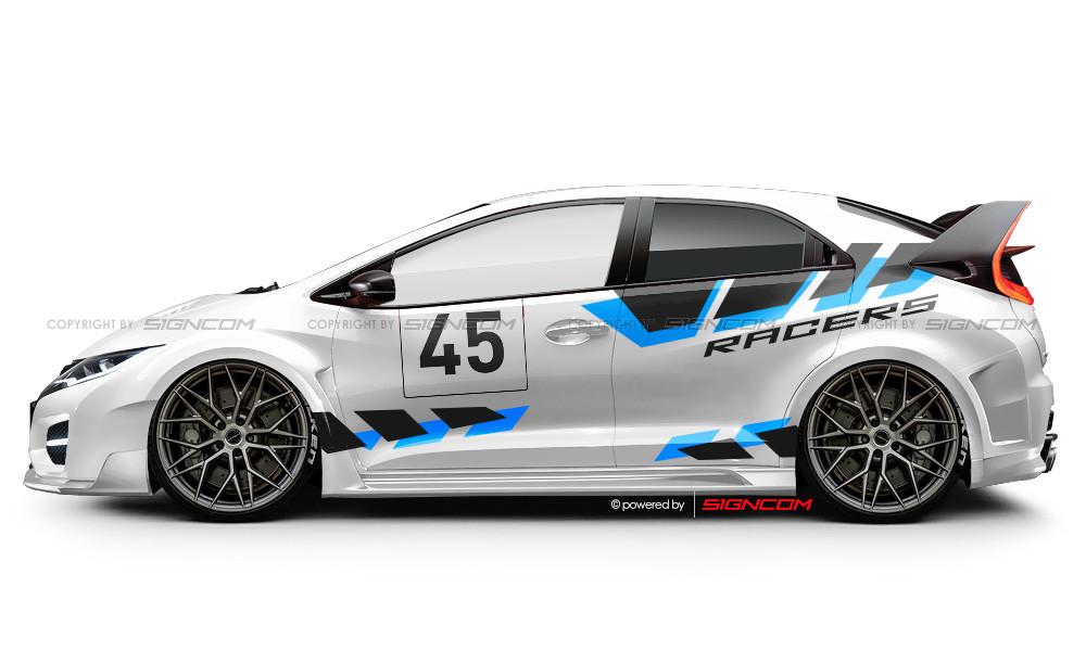 Race Art Aufkleber Set 09 Pro | Racing Art Car Graphic Kit 09 Pro