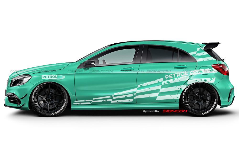 Race Art Aufkleber Set 10 | Racing Art Car Graphic Kit 10