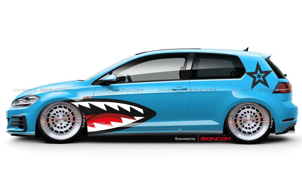 Race Art Aufkleber Set 03 | Racing Art Car Graphic Kit 03