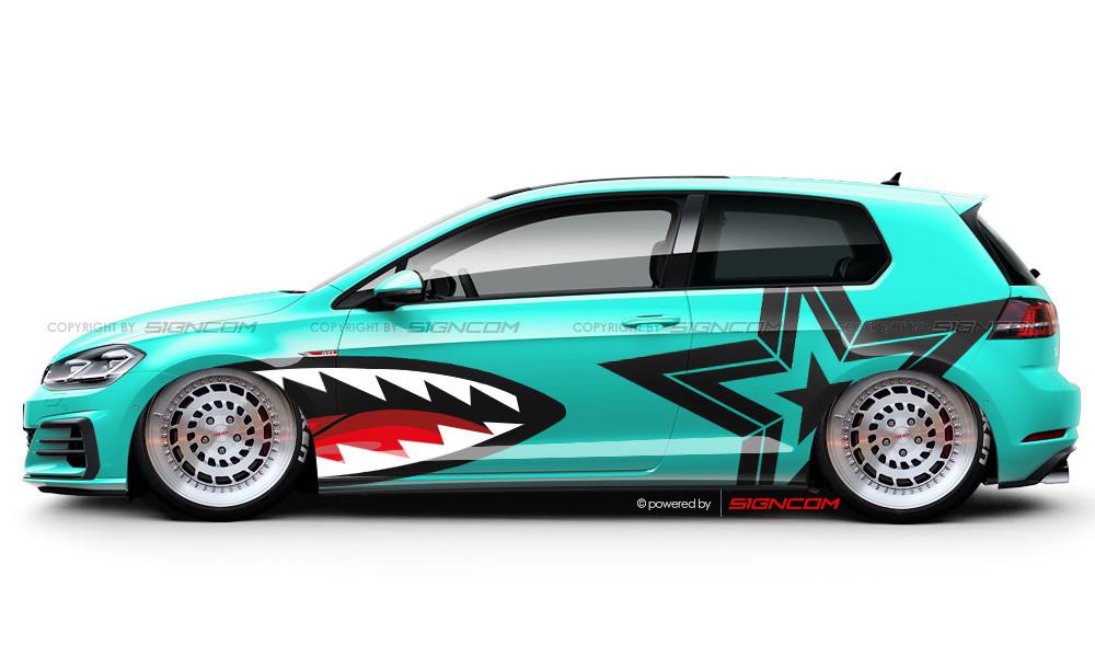 Race Art Aufkleber Set 04 | Racing Art Car Graphic Kit 04