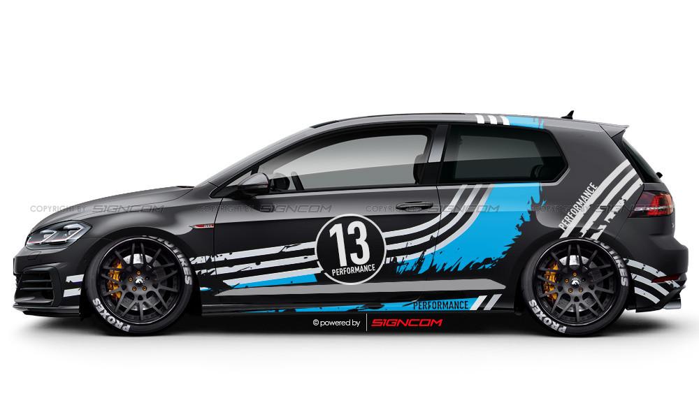 Race Art Aufkleber Set 05   Racing Art Car Graphic Kit 05