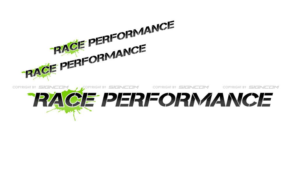 Race Performance Schriftzug