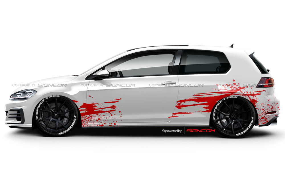 WTF Blutspritzer / Blutflecken Aufkleber Set 02 | Blood Splash Car Graphic Kit 02