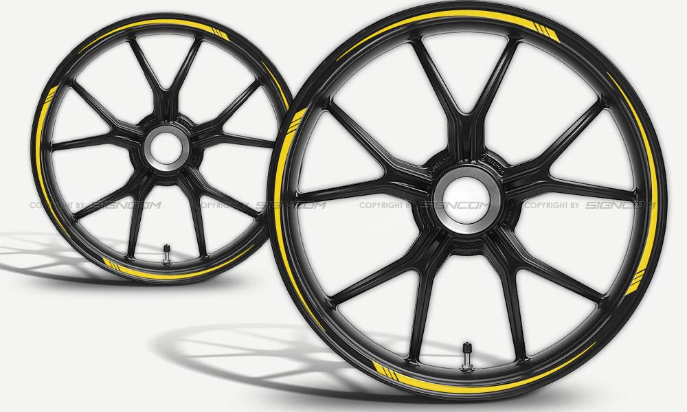 Motorrad Felgenaufkleber Wheel Stripes 02