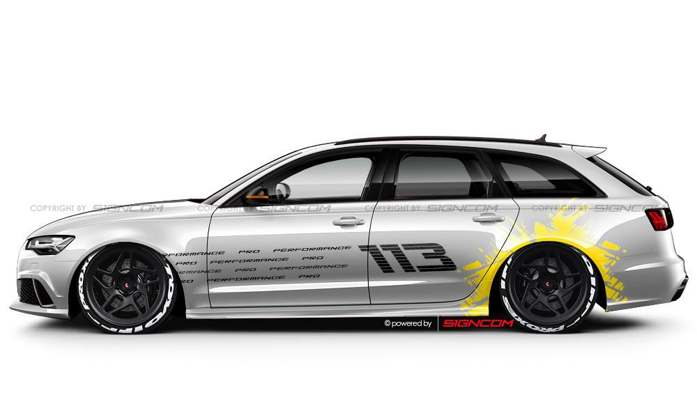 Race Art Aufkleber Set 12 Racing Art Car Graphic Kit 12